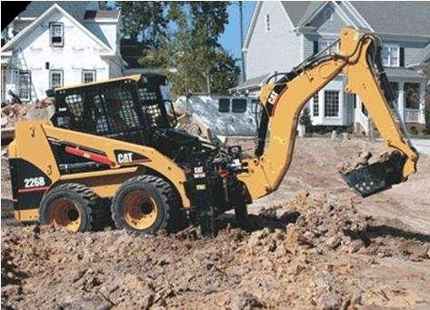 arriendo de minicargador con brazo excavador